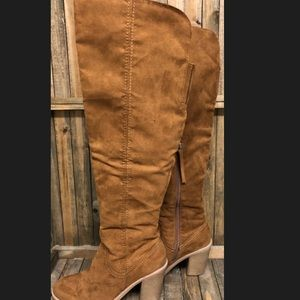 dolce vita suede camel over the knee heel boots 9